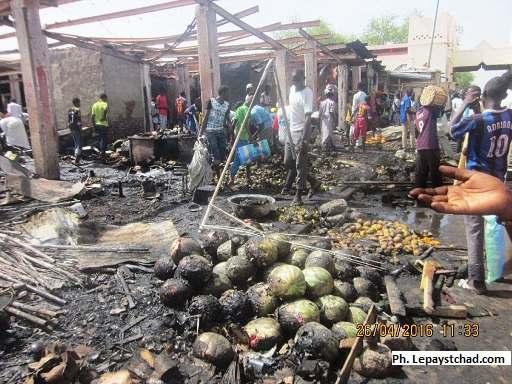 Incendie au marché central