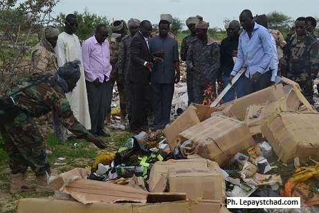 La Direction générale de douane incinère des stupéfiants à Lamadji