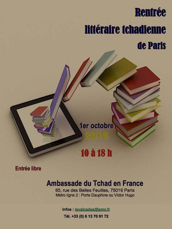 Bientôt la rentrée littéraire tchadienne à l'Ambassade du Tchad à paris
