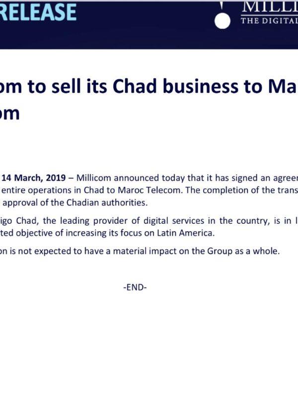 Tigo Tchad est racheté par Maroc Télécom