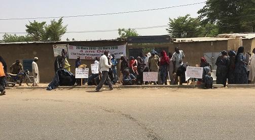 Les victimes de Hissein Habré dans la rue 1