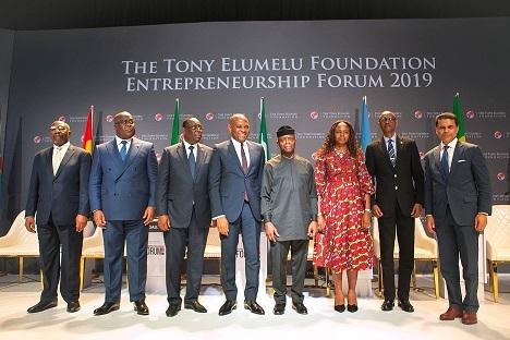 Autonomisation des jeunes entrepreneurs africains : les Présidents africains et les leaders de la planète s'attaquent à la création d'emplois et à l'autonomisation des jeunes au Forum d'Entreprenariat de la Fondation Tony Elumelu 2019. 1