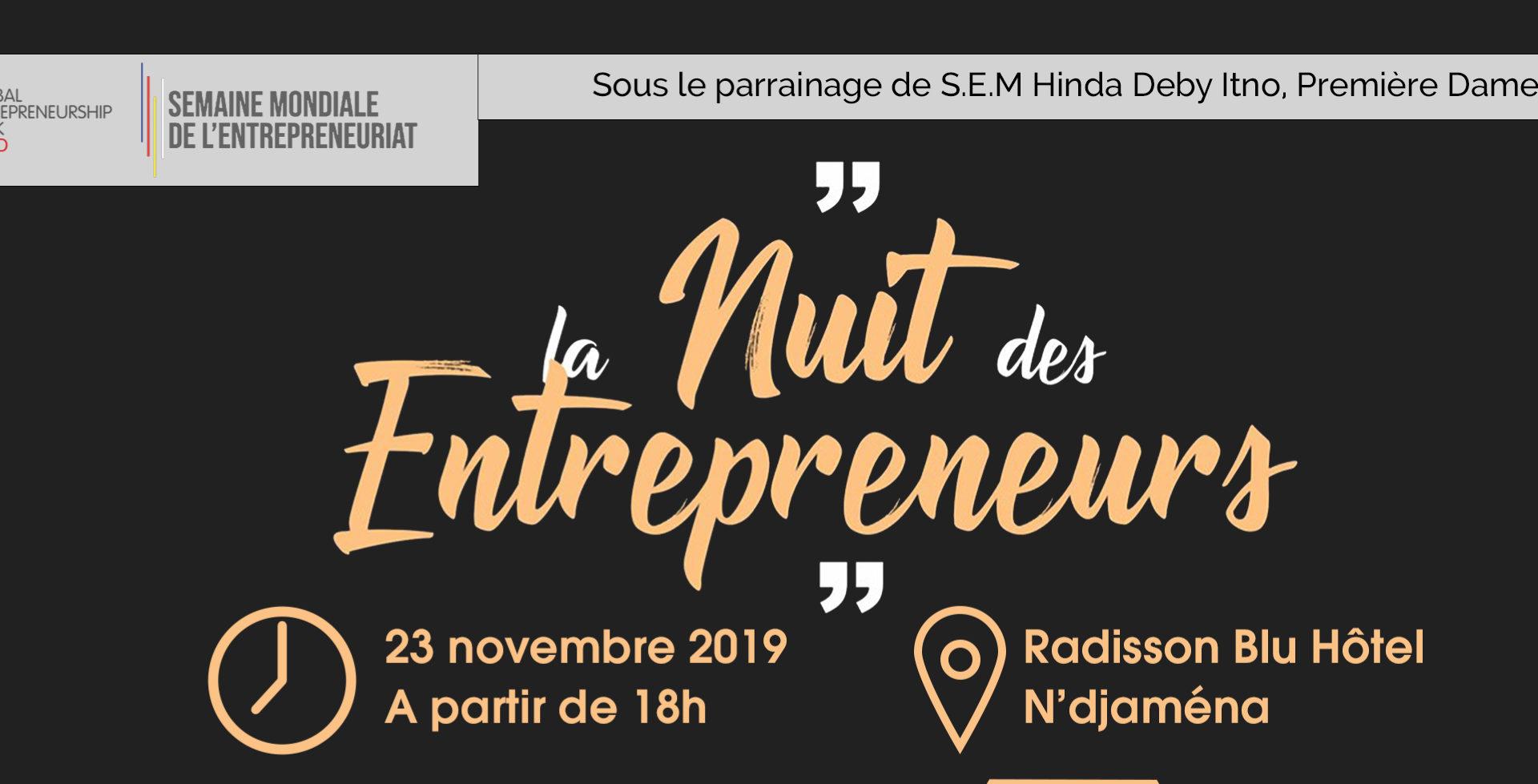 La nuit des entrepreneurs sera célébrée le 23 novembre 2019 1