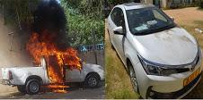 Deux véhicules incendiés ce matin à N'Djaména 1
