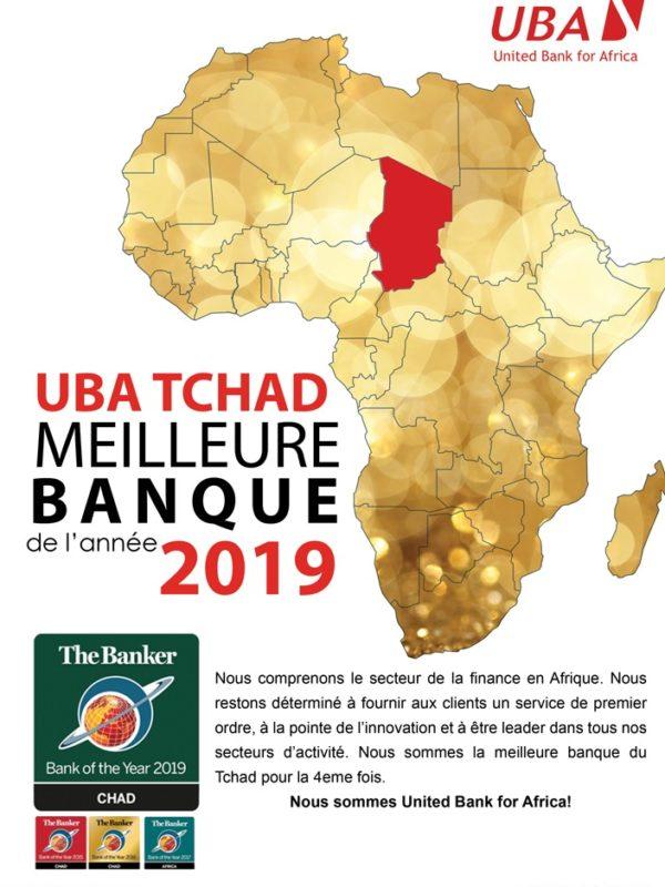 UBA Tchad, meilleure banque de l'année 2019