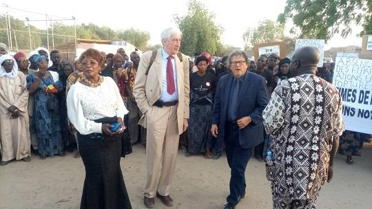 Marche des victimes de Habré et de leurs avocats pour l'indemnisation 1