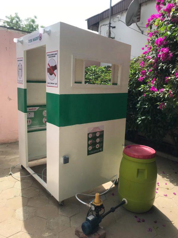 Box Nadif, un cabine de désinfection corporelle