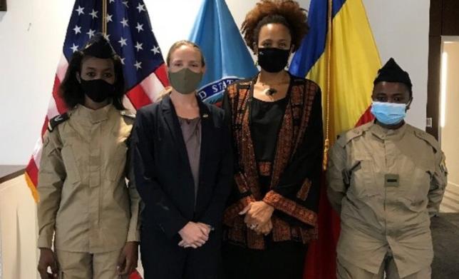 Deux tchadiennes de l'armée de l'air en formation de pilotage aux Etats-Unis 1