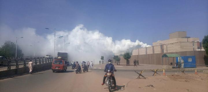 Il n'y a pas eu de l'incendie à l'Ambassade des États-Unis au Tchad 1