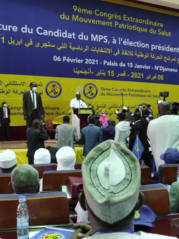 Idriss Deby, candidat du Mps pour avril 2021