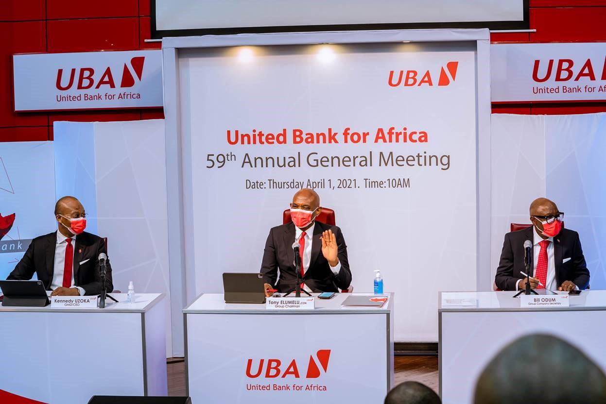 UBA est bien lancée pour tirer parti de la relance économique en 2021, déclare M. Elumelu 1