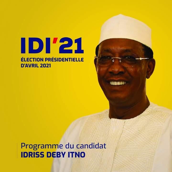 Idriss Deby Itno réélu au premier tour avec 79,32 % de voix 1