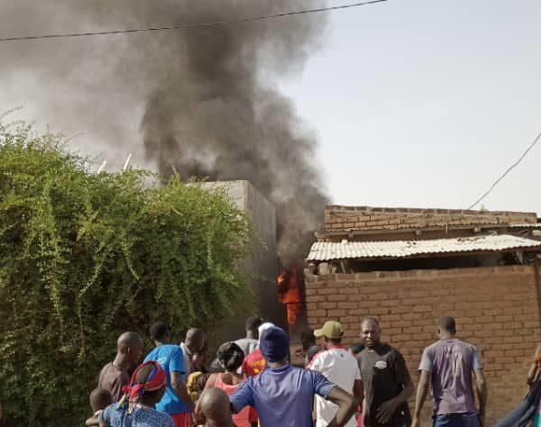 Un incendie dans une maison Chagoua