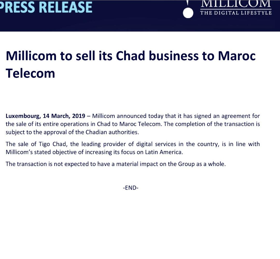 Tigo Tchad est racheté par Maroc Télécom 1