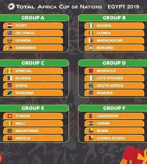 Calendrier de la coupe d'Afrique des Nations (Can) 2019