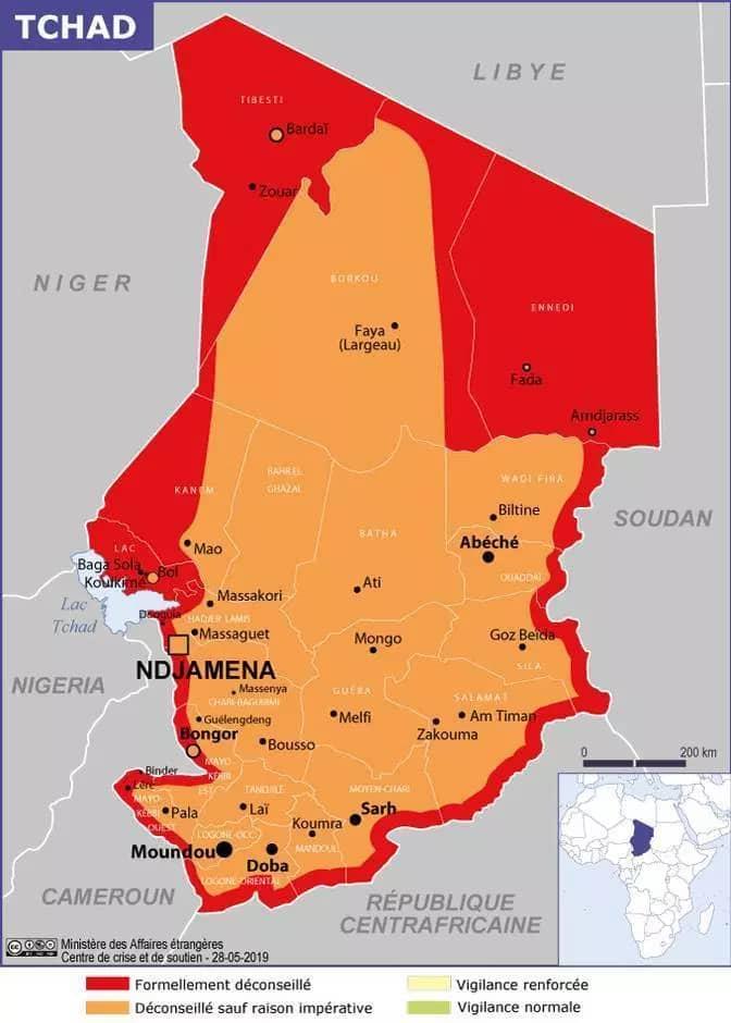 Le Tchad, pays formellement déconseillé par le Quai d'Orsay 1