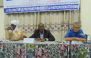 Un colloque sur les politiques publiques et la participation citoyenne 1