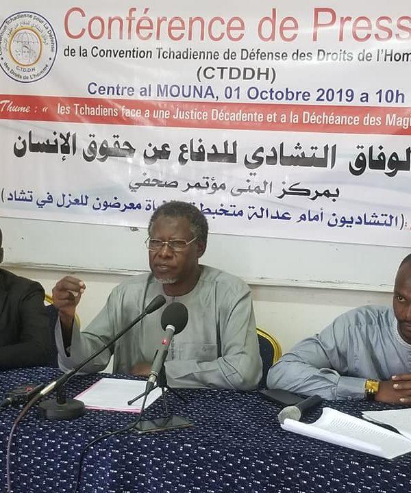 La Ctddh se préoccupe de la déconfiture du système judiciaire Tchadien