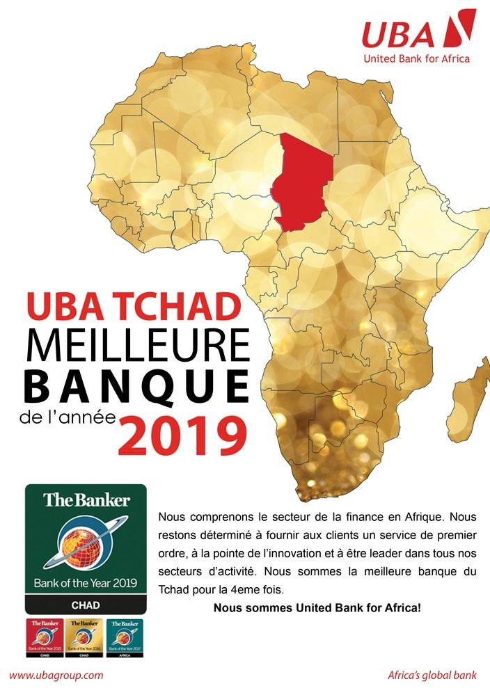 UBA Tchad, meilleure banque de l'année 2019 1
