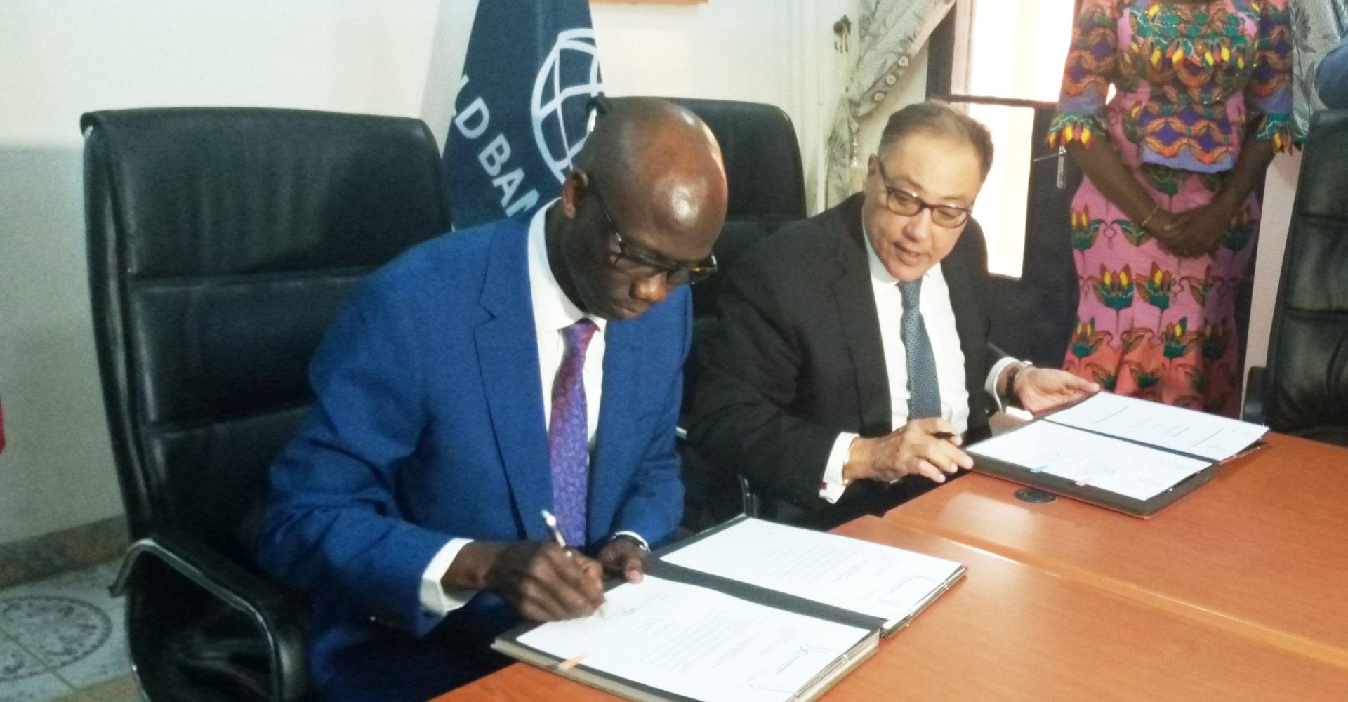 Signature d'un accord de don d'appui budgétaire entre le Tchad et la banque mondiale 1