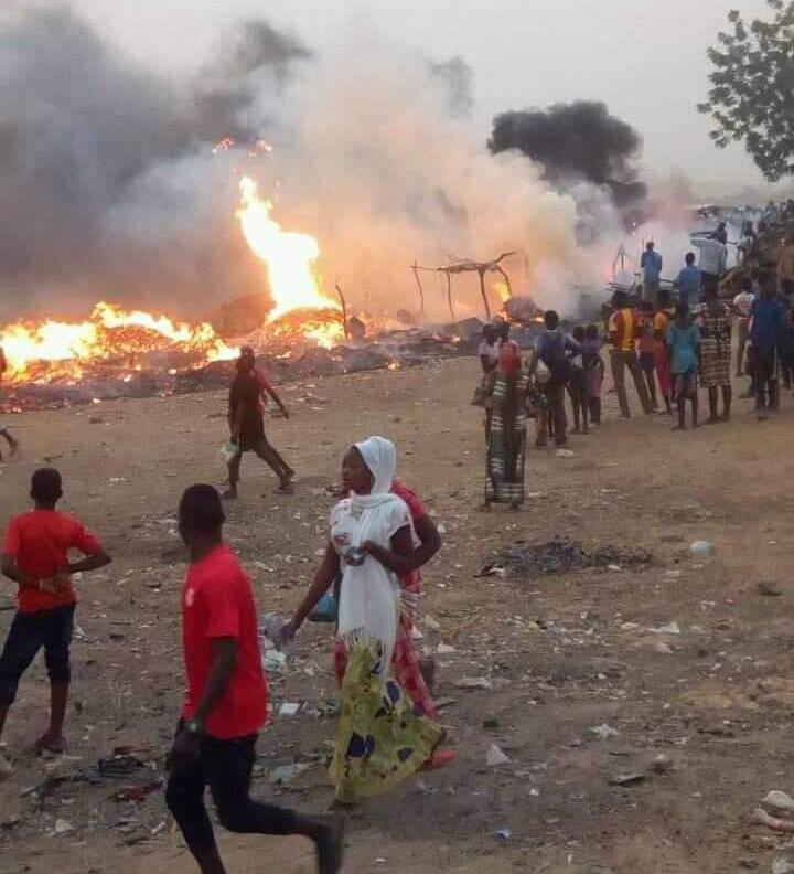 Un incendie s'est déclaré au marché de Walia Ngosso 1