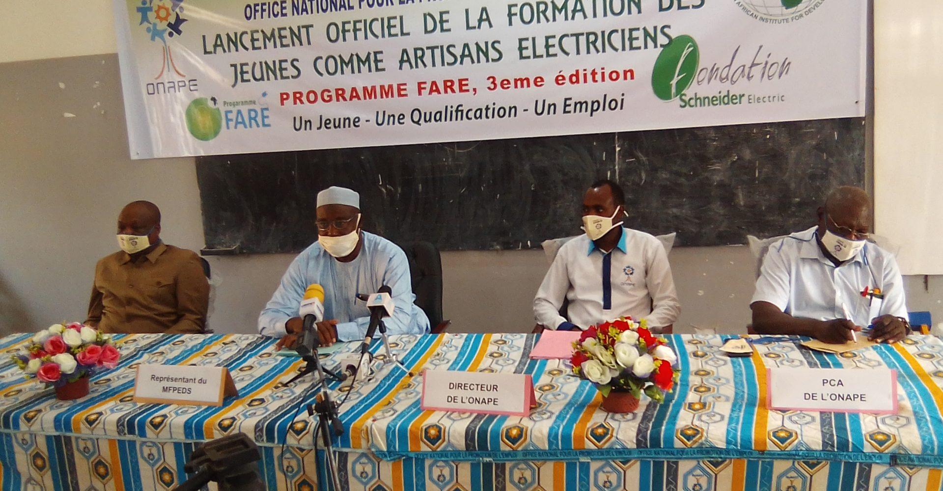 L'Onape et ses partenaires lancent la 3ème session de formation des jeunes électriciens 1
