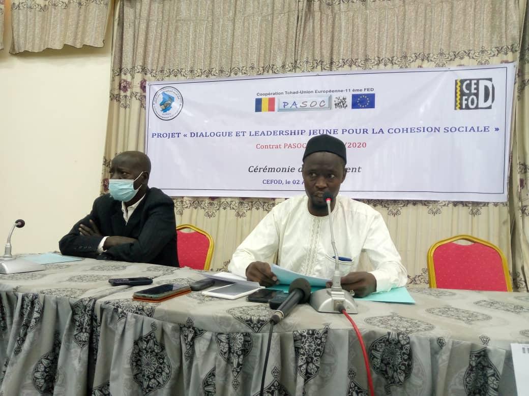 Lancement du projet « Dialogue et leadership jeune pour la cohésion sociale 1