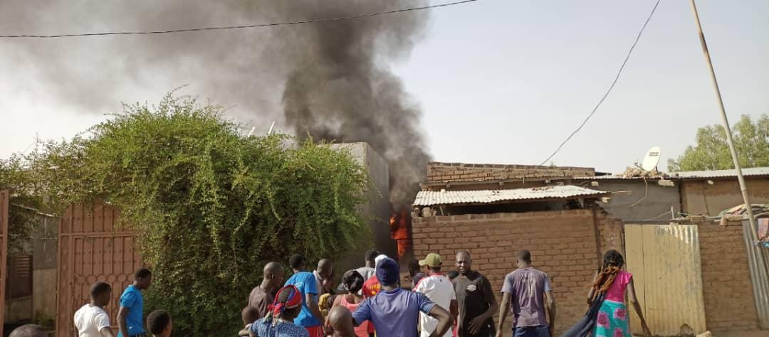 Un incendie dans une maison Chagoua 1